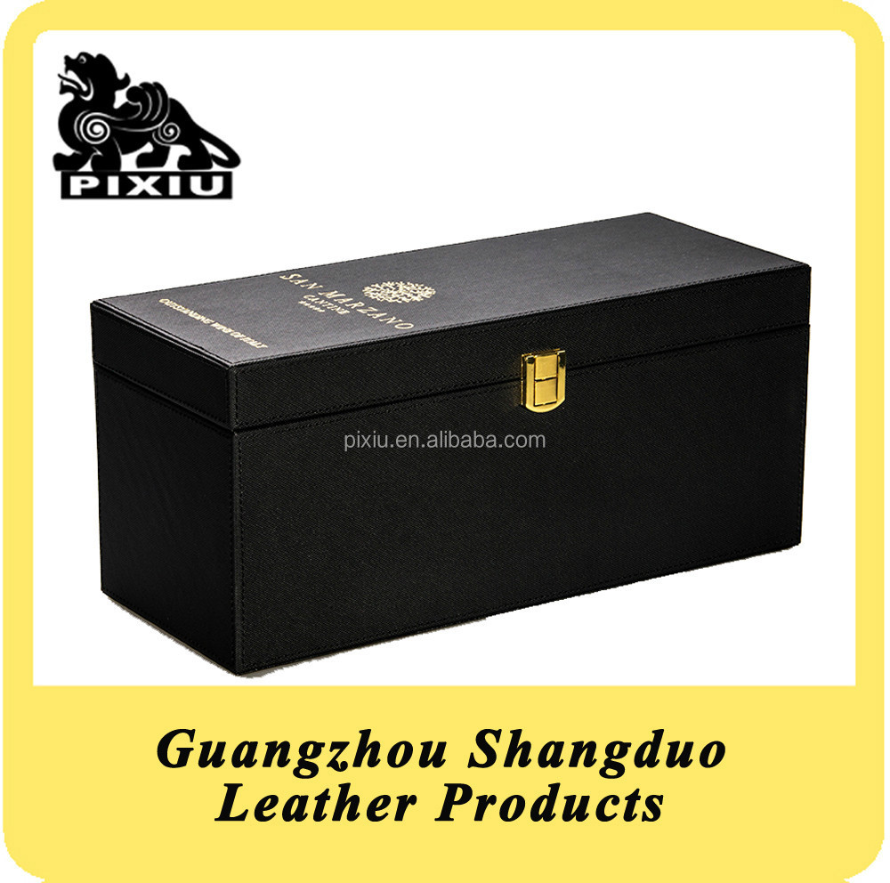 New Promotional Custom Leather Vintage Wine Packing Box