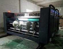 Carton Box Chain Feeding Flexo Printer Slotter Machine