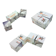 Plastic advertising logo print gifts magic folding cube