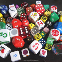 plastic game dice