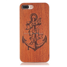 Natural Wood Phone Case Engraved Cover for iPhone 7/7plus,mobile phone accessories