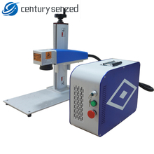 Produce10w 20w 30w 50w ink and paint coating use color fiber laser engraving machine mini laser marking machine for price list