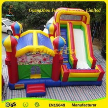 Funcity New Design Inflatable Bounce Combo /Inflatable Bouncy Bed/ Castle With Water Slide