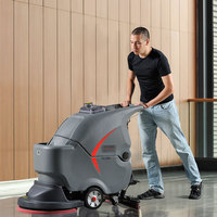 Industrial manual floor scrubber floor sweeper