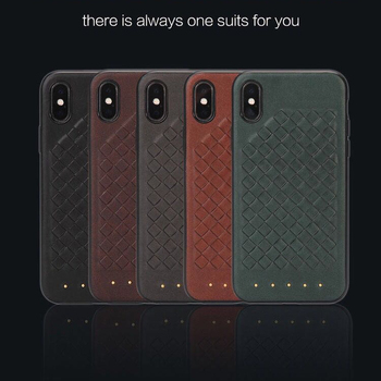 high quality cross stitch PU leather phone case for iphone X