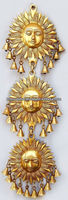 Decorative Indian art hand made Sun face metal wall hanging with bells