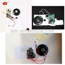 Custom recordable micro sound chip for cards toys