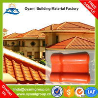 Construction materials 25 years guarantee Plastic Spanish Roof Tile for construction