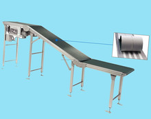 Inclined belt conveyor for hot sale
