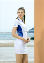 ladies' and polo shirt and skort golf shirt