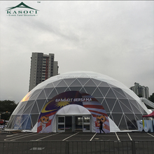 China PVC Soundproof Exhibition Portable Round Shaped Geodome Big House Concert Tent Geodesic Dome