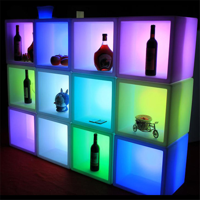Multi function <strong>LED</strong> Shelf Display Stand <strong>LED</strong> Ice Bucket Shelf for wine