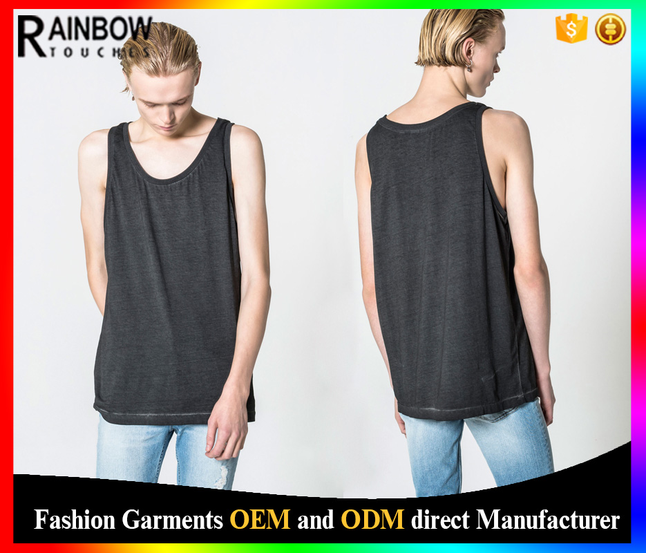 2016 Fancy blank tank top mens cotton tank top design