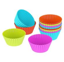 Various Colors Environmental Silicone Mini Baking Cupcake Liners
