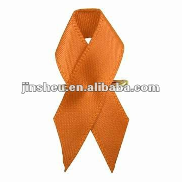 Cheap colorful Breast Cancer Satin Awareness Ribbon
