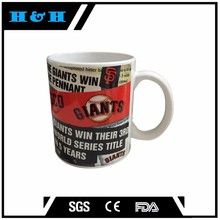 white sublimation mug Material cup handle