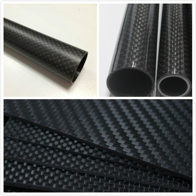 High Quality Carbon Fiber Tube Tubing Carbon Fiber Tube Printed With Logo