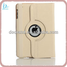Quality authentic rotate leather case for ipad mini