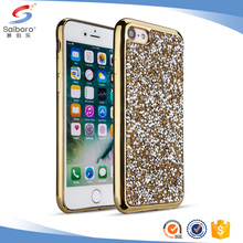 Mobbile cover diamond shining plating case for iphone 6