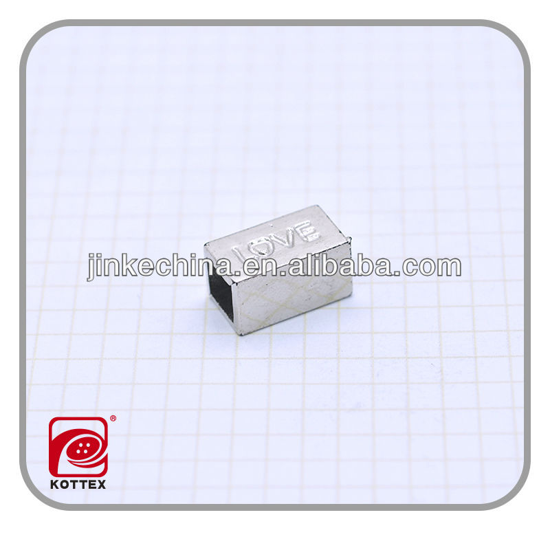 Custom plastic square stopper,plastic cord end for garment