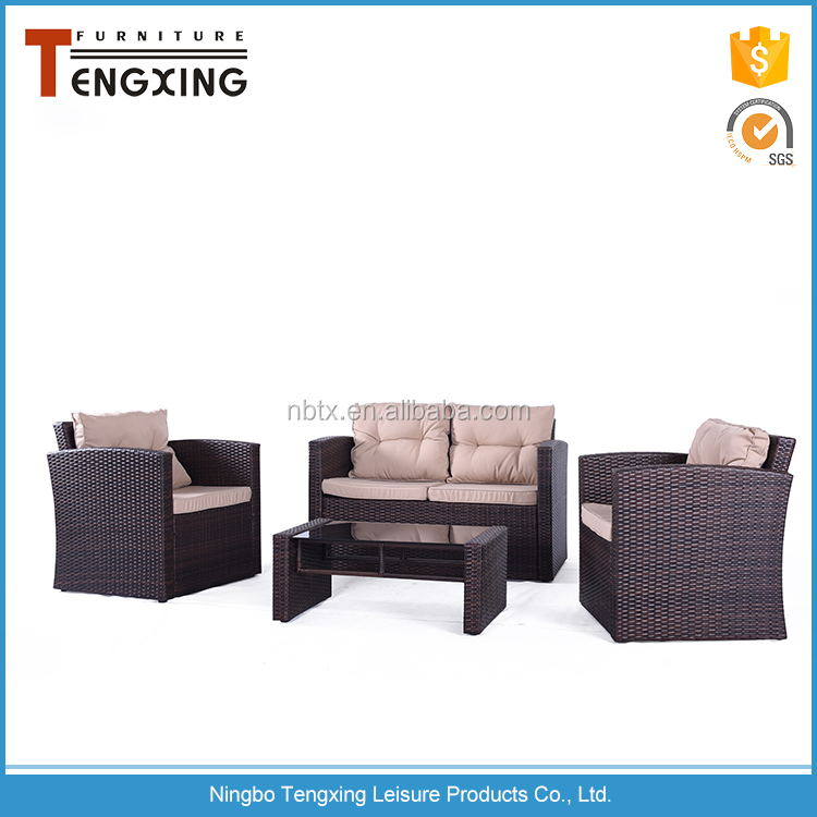 Wicker furniture rattan durable cheap outdoor sofa set
