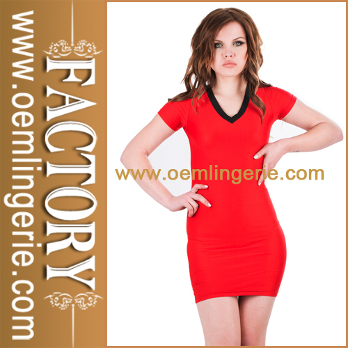 Wholesale Cheap Chic Europe Ladies Red Sun Dresses