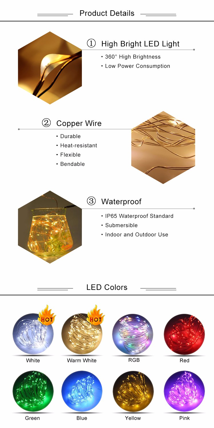 Factory Wholesale 2M/20LED Cork Shape Mini Liquor Wine Bottle Copper String Lights