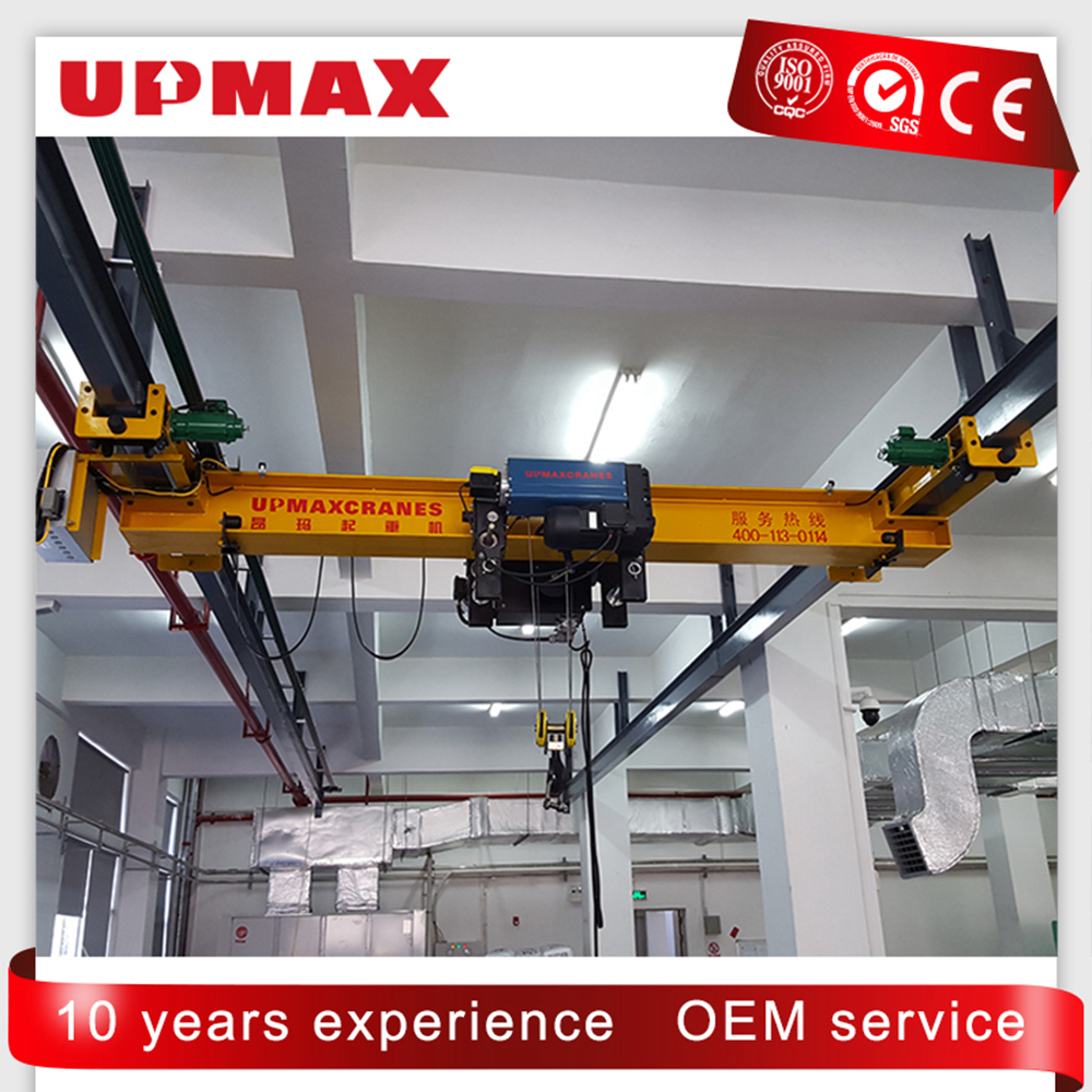 1ton High Quality Lightweight Single Girder Suspension Electric Overhead Crane