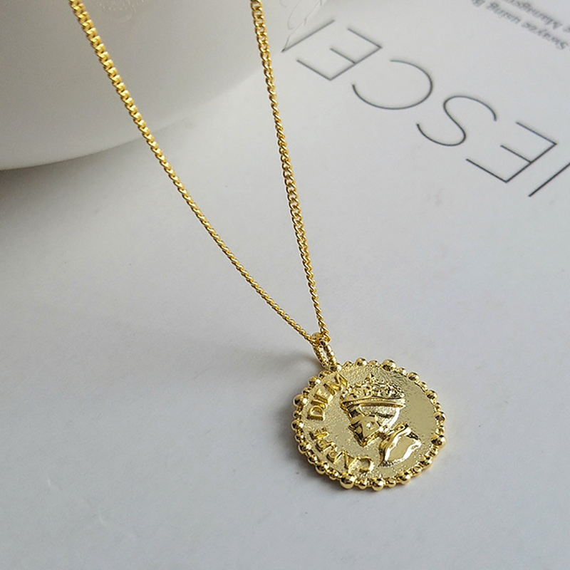 2019 New <strong>Fashion</strong> 925 Silver Creative Design Pendant Necklace Women Gold Jewelry