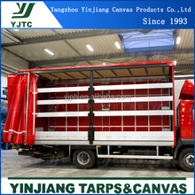 Customized PVC Tarpaulin Side Curtain can Print Logo For Truck