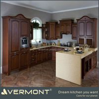 traditional american style melamine maple veneer solid wood kitchen cabinets design