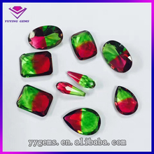 Bicolor pear glass beads for jewelry making