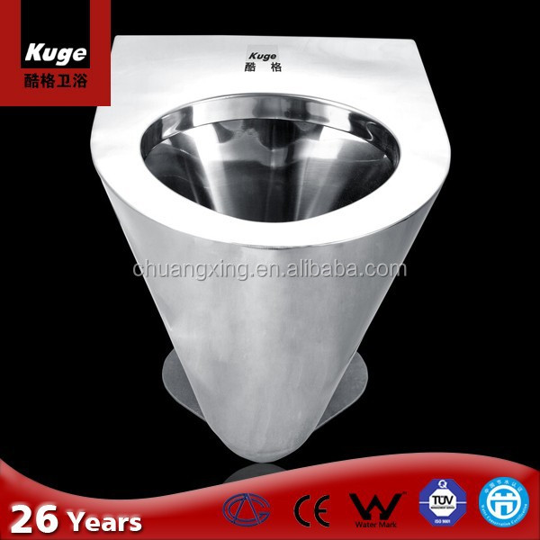 Stainless steel flush toilets units