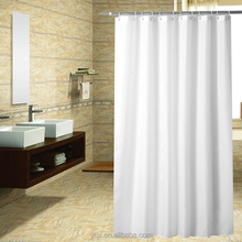 Polyester waterproof plain white fabric bathroom window curtain