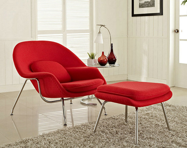 Lounge Womb Chair and ottoman designer furniture Living room chair