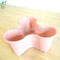 stackable flower pot plastic vertical planter,feeling garden pots