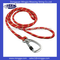 dynamic nylon climbing rope with metal hook