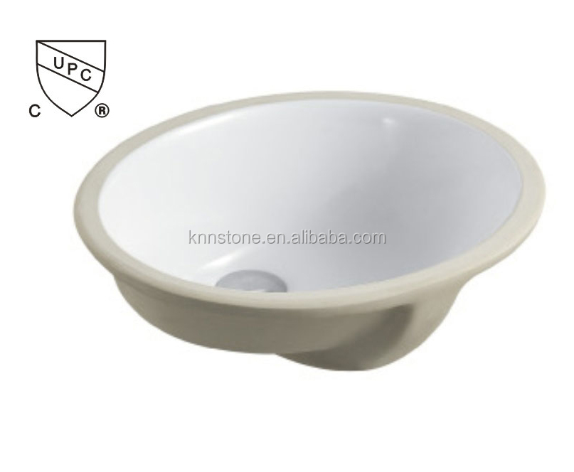 "Bathroom Undermounter Ceramic Sink with Cupc & CSA 19"" sink"