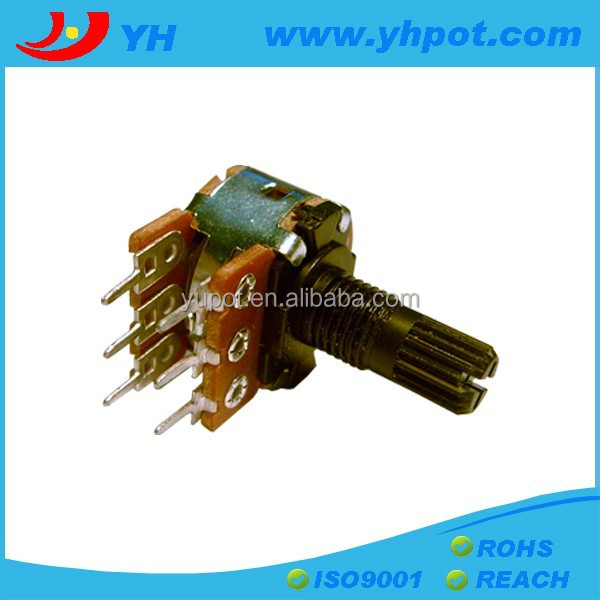jiangsu 16mm plastic shaft high power a503 rotary linear types of potentiometer