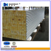 Best price rock wool polyurethane sandwich wall&roof panels