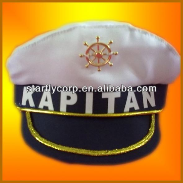 Yiwu factory wholesales fashion white captain hats (ST-H1219-1)