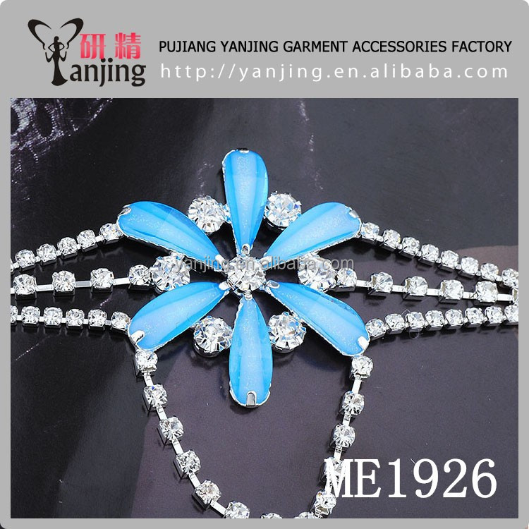 Bling bling fancy wholesale pearl and rhinestone strip