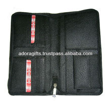 ADATW - 0026 zip around best leather travel wallets / travel wallets with coin pocket