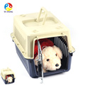 2017 Popular Large Pet Care Plastic Kennel Dog Travel Carrier Pet Cage