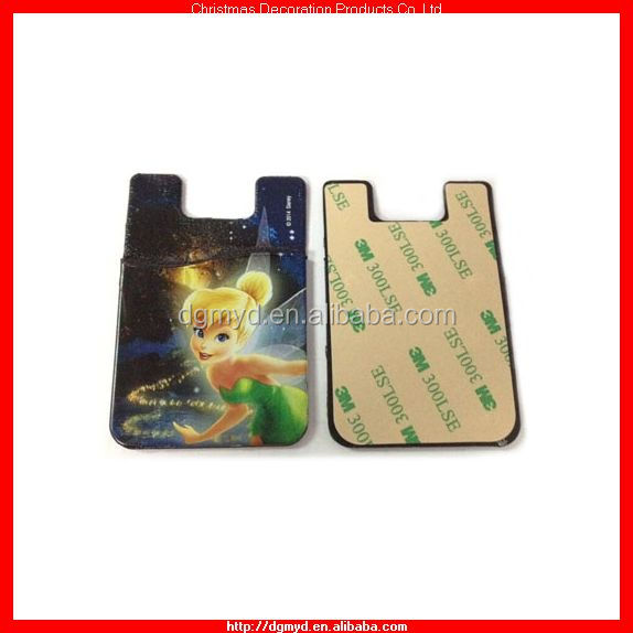 Tinker Bell 3M adhesive sticky silicone card holders 2014 (KMS-1724)