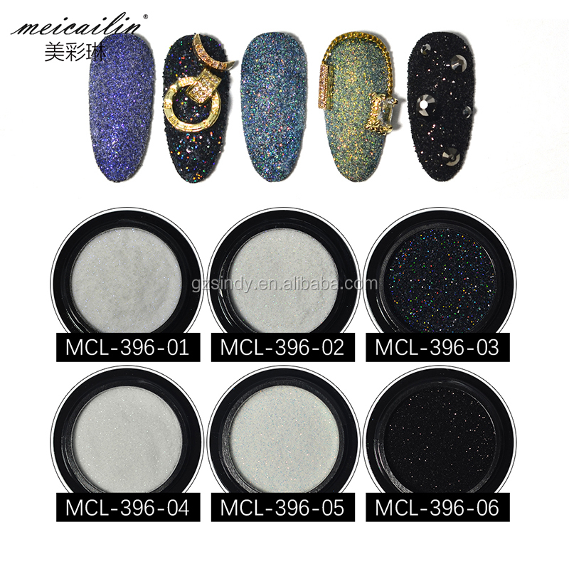 New Shiny  Laser Nail Glitter Powder Set