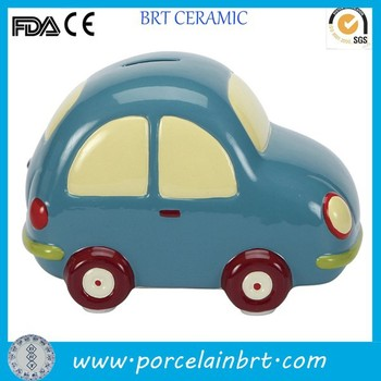 Small bule boy giftware ceramic Car Bank