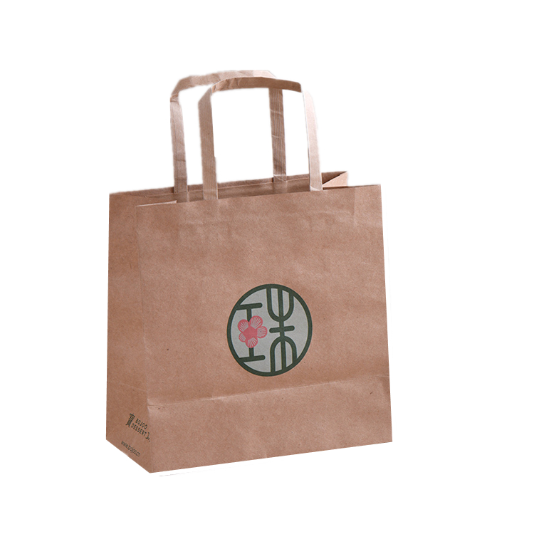 Brown Kraft Candy Gift Paper Bag with Flat Handle