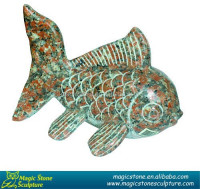 wholesale stone fish sculpture