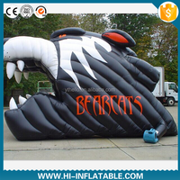 Customized inflatable wolf mascot tunnel, inflatable entrance tunnel, inflatable football tunnel for sale